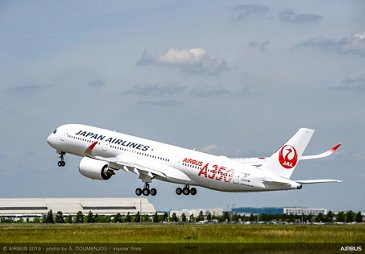 A350 900 Japan Airlines Take Off