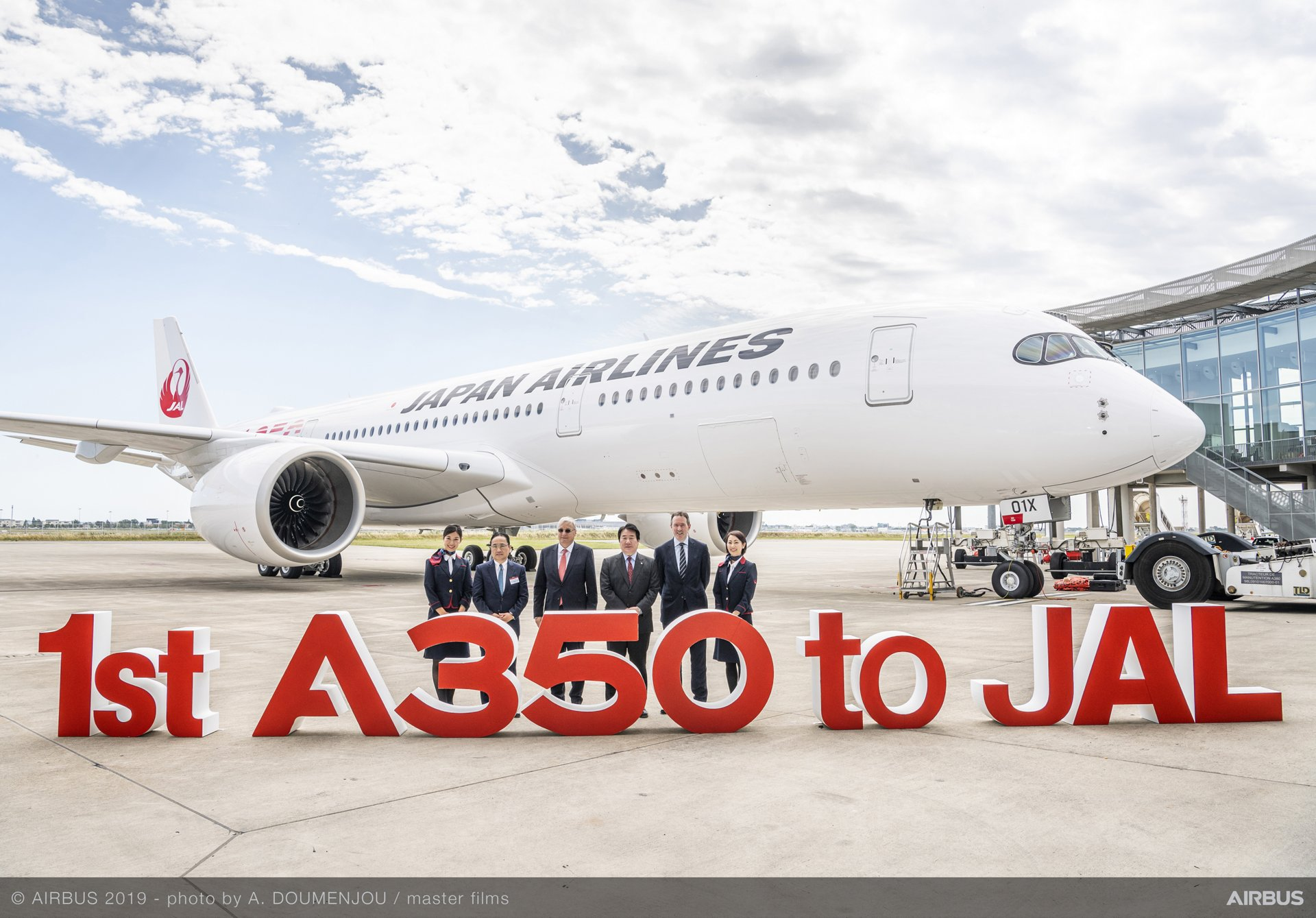First A350-900 delivered to Japan Airlines.