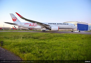 The first A350 XWB for Japan Airlines