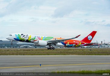 First Sichuan Airlines A350-900 take off