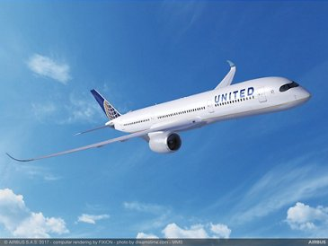 United Airlines' A350-900