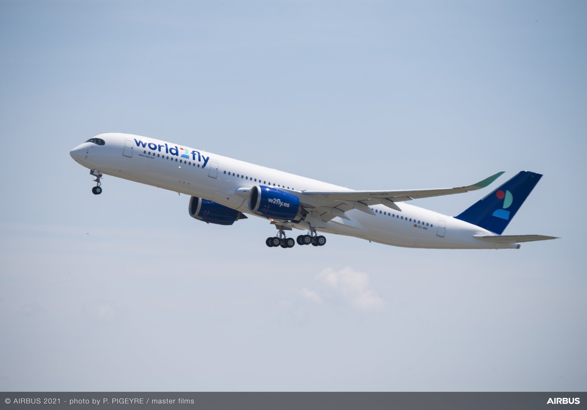 The airline world2fly received its first A350-900