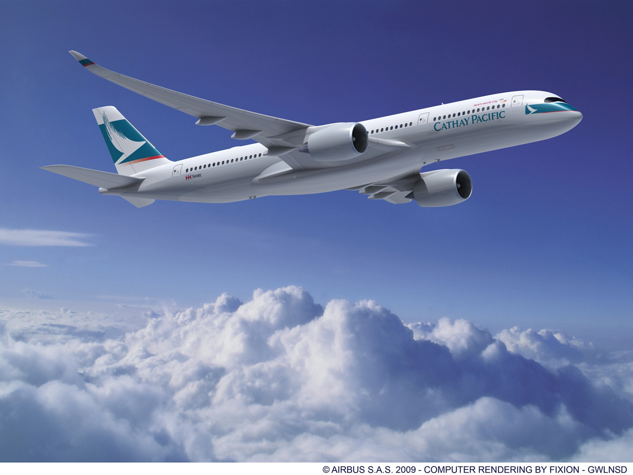 Cathay Pacific Airways announced today that it has selected the A350-900 to form the backbone of its future mid-size widebody fleet, following the signature of a Letter of Intent (LOI) with Airbus for the order of 30 aircraft. (4 August 2010)