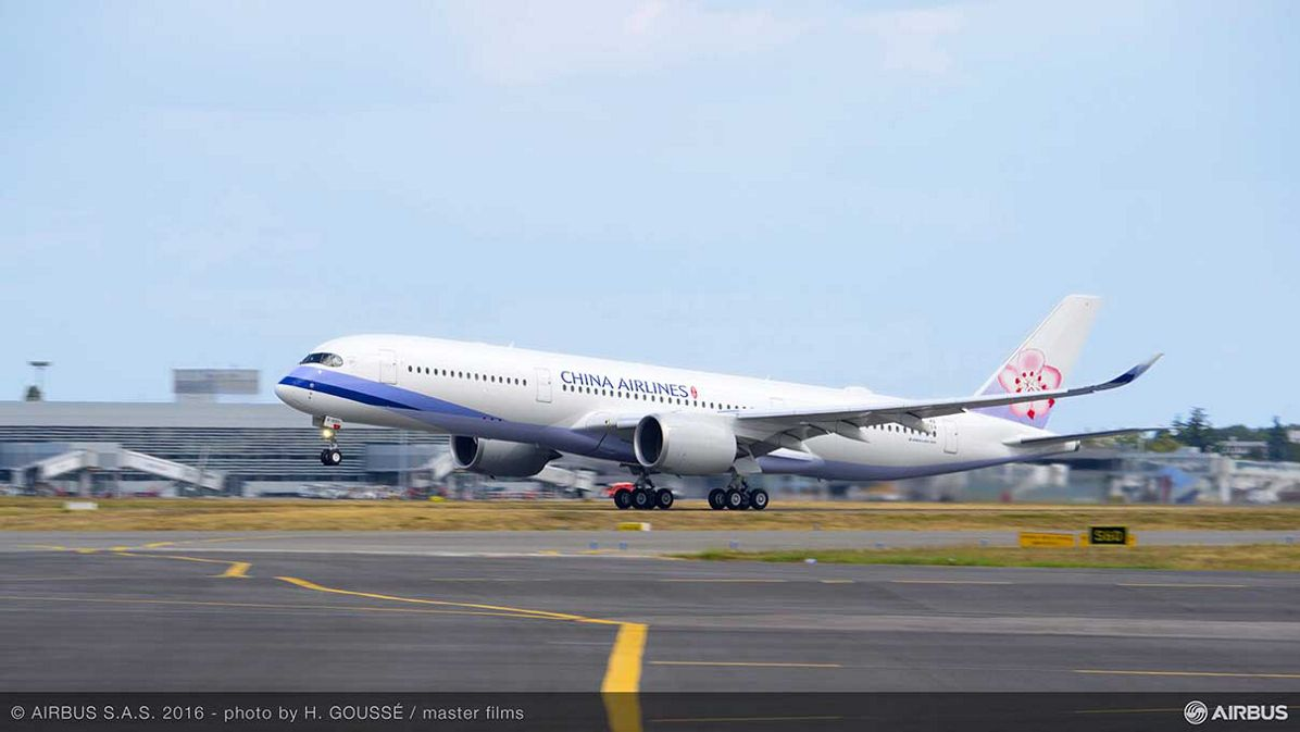 China Airlines' first A350 XWB_delivery 1