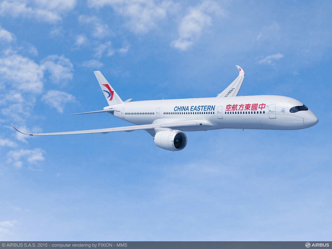 China Eastern Airlines became a new customer for Airbus' A350 XWB with its purchase agreement signed for 20 A350-900 versions