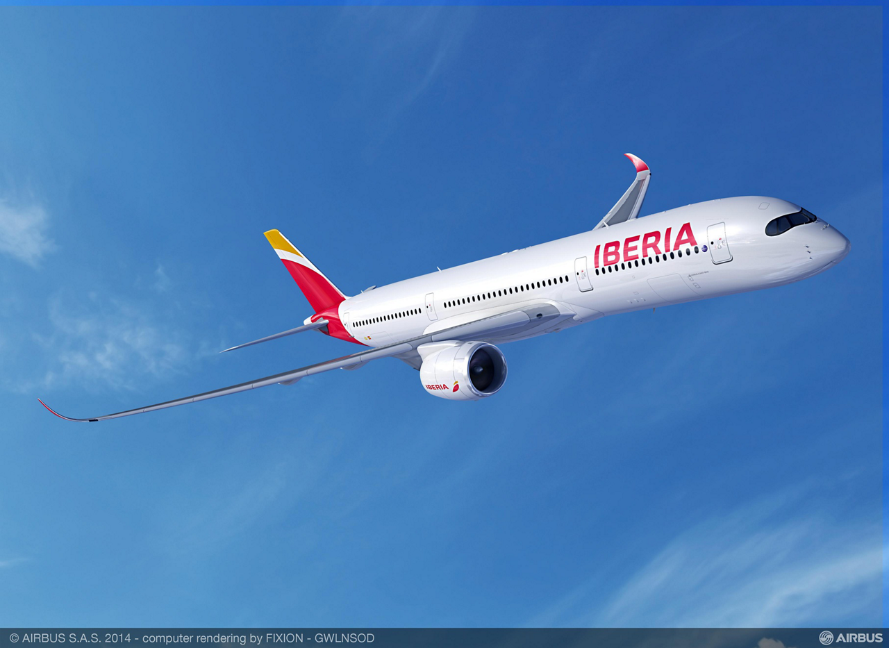 Iberia becomes a new A350 XWB customer with the conversion of options for eight A350-900 jetliners into firm orders by its International Airlines Group (IAG) parent company