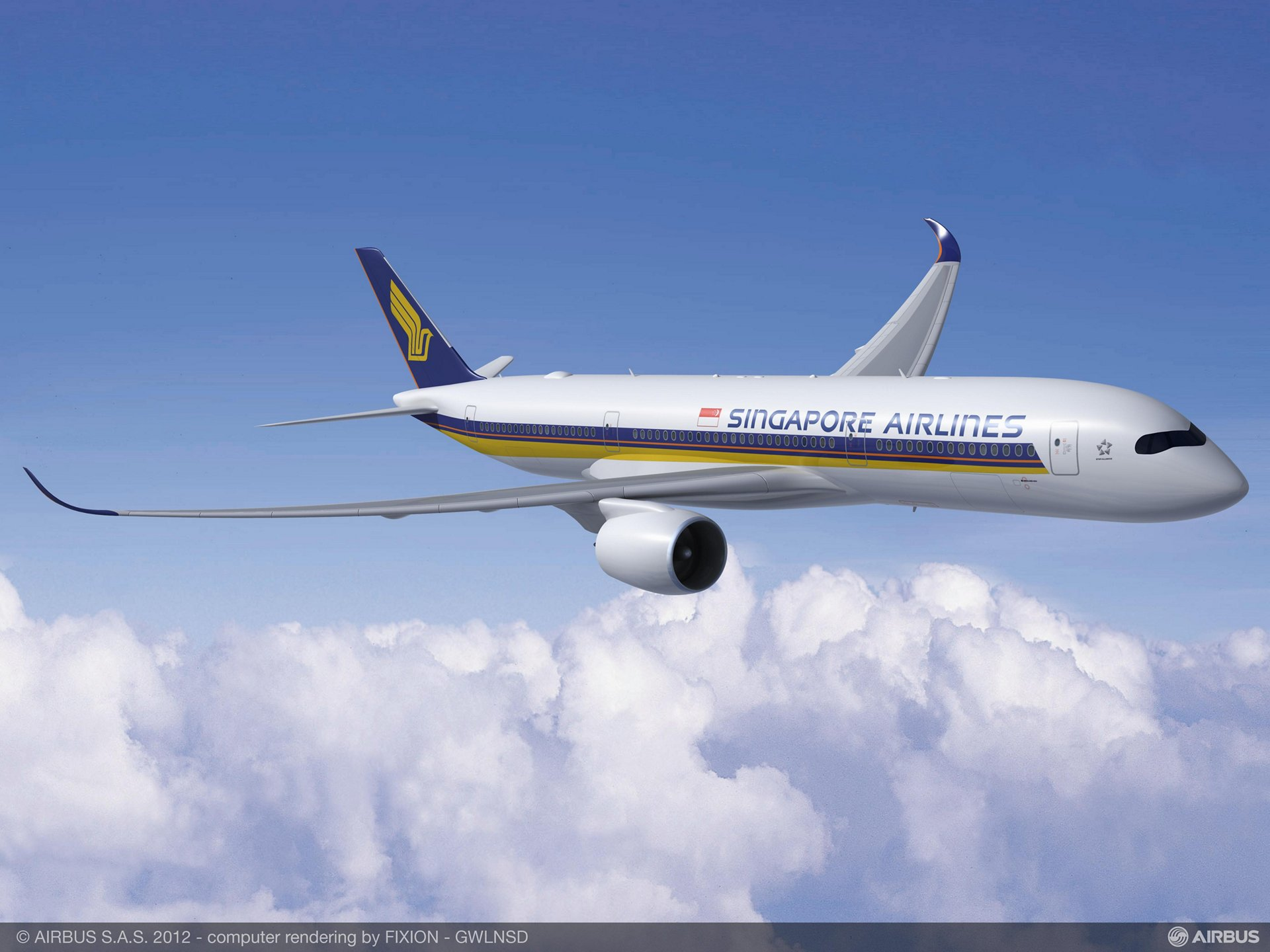 Singapore Airlines increased its A350 XWB order total with a repeat firm booking that includes 20 of these all-new widebody jetliners, along with five double-deck Airbus A380s