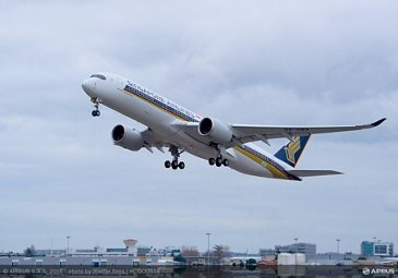 First flight of Singapore Airlines' no. 1 A350 XWB_2