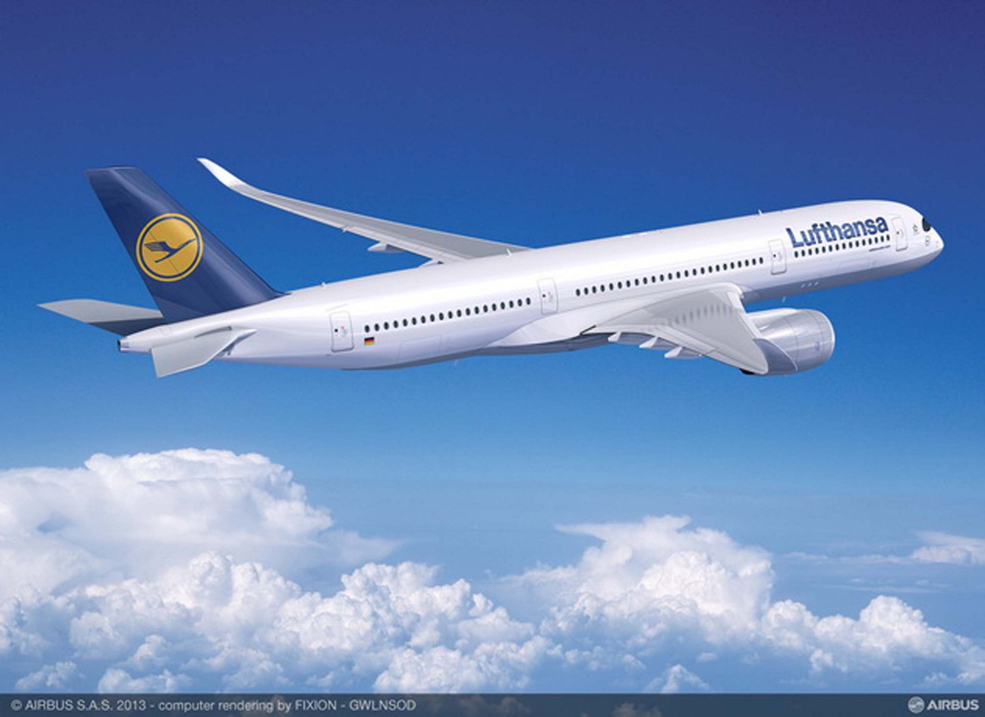 Airbus' biggest airline customer and operator, Lufthansa, has committed to acquire up to 55 A350-900 jetliners – covering 25 firm orders and 30 options