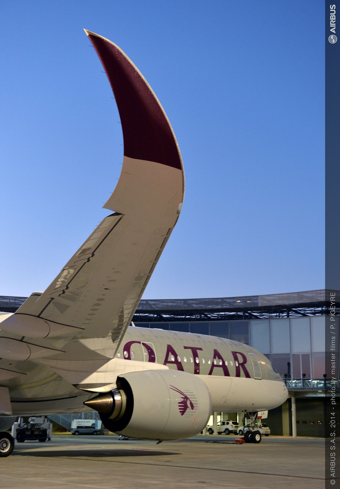 A350 Qatar Airways first delivery - morning ambiance
