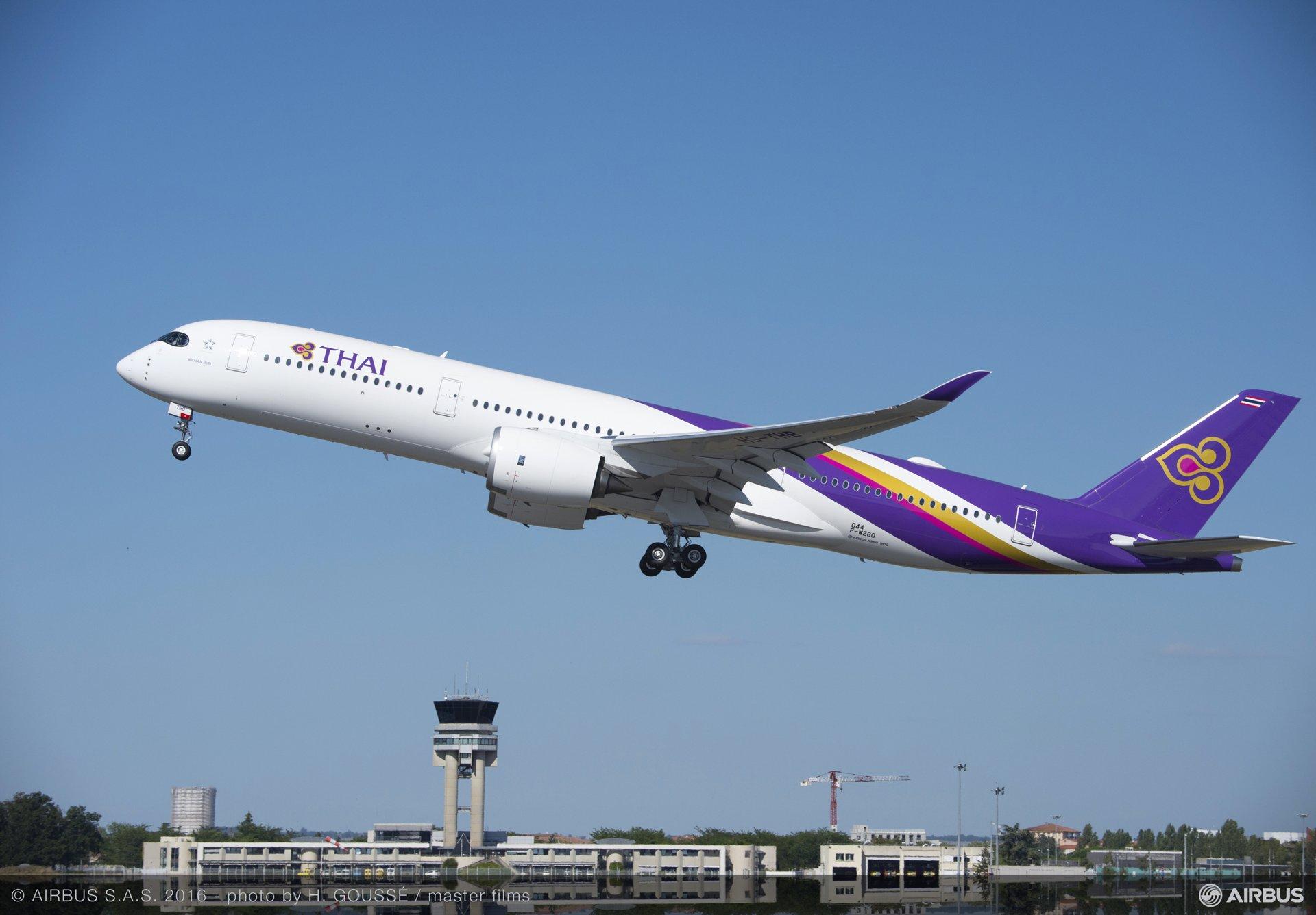 THAI A350 XWB first flight_2