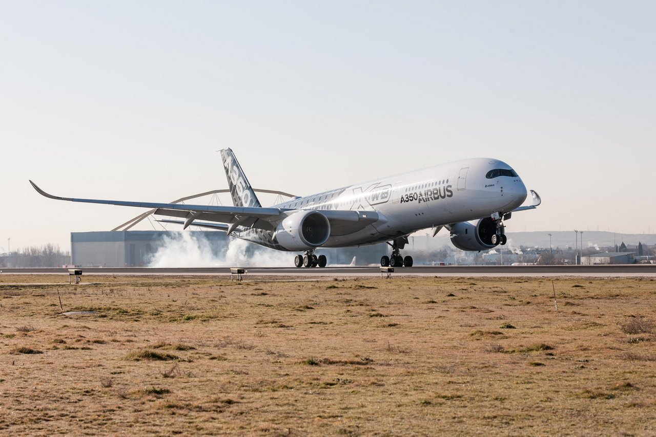 A350 XWB debut at Madrid-Barajas 2
