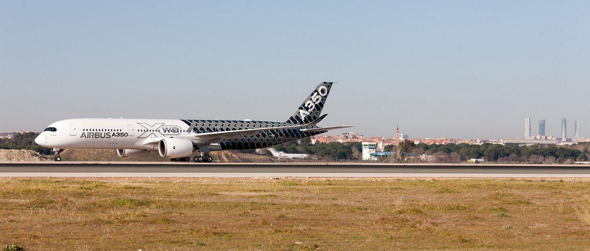 A350 XWB debut at Madrid-Barajas 1