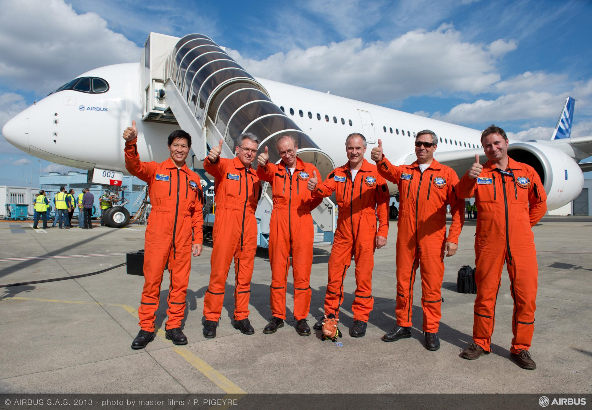 A350 XWB - MSN3 First flight landing
