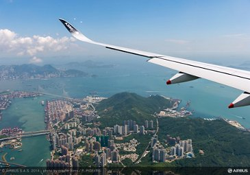 A350 XWB - ROUTE PROVING - TRIP 2 - FLYING OVER HONG KONG