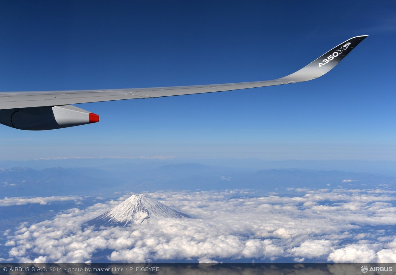 A350 XWB Asian demo tour – Mount Fuji