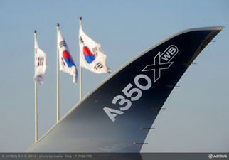 Seoul, South Korea was the initial destination on the A350 XWB's first demonstration tour around Asia – performed by one of Airbus' five A350-900 test aircraft