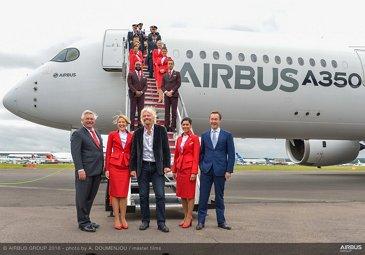 Farnborough Airshow_Day 1_A350 XWB arrival 6