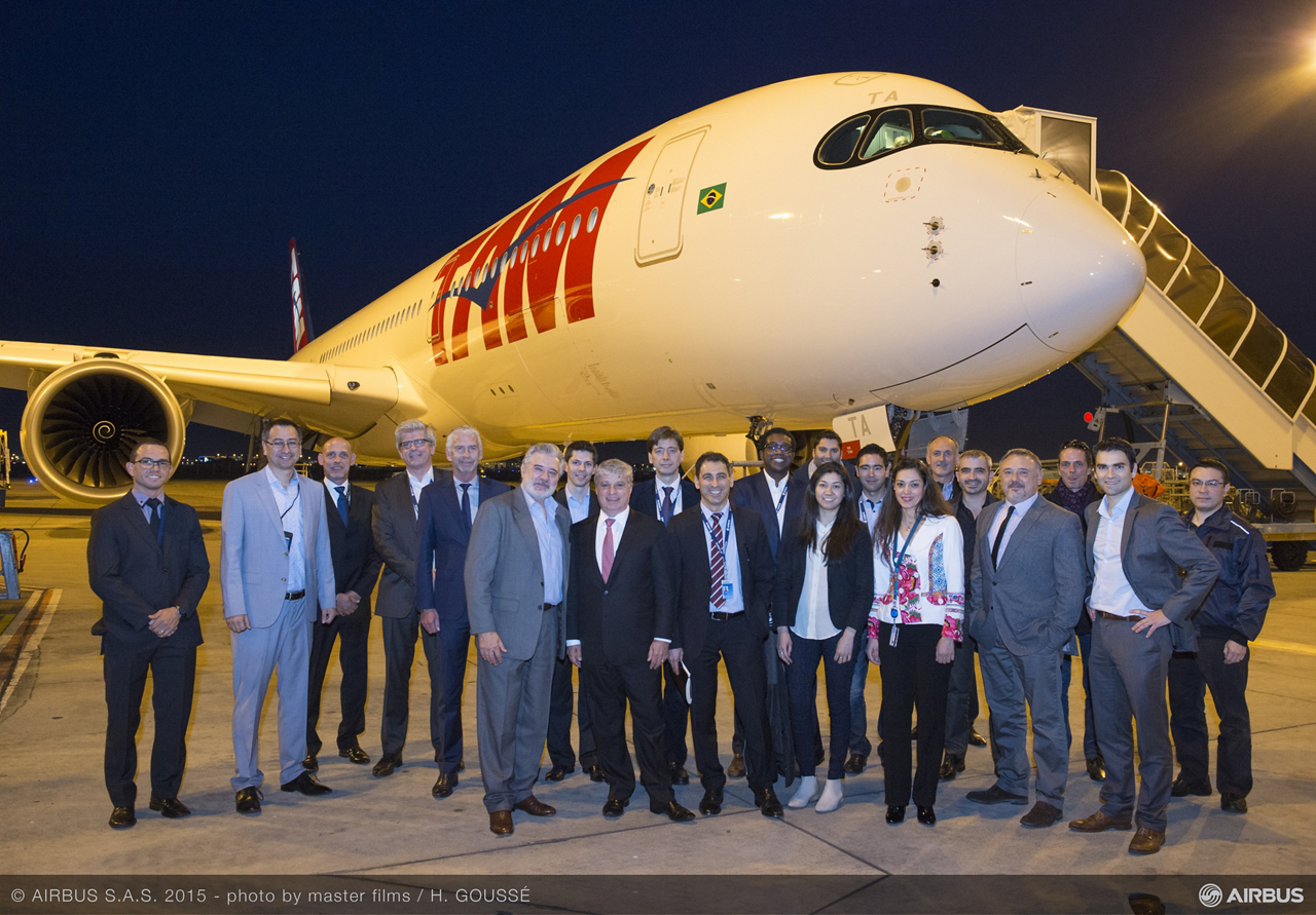 TAM Airlines is the first carrier in the Americas to receive Airbus' new-generation A350 XWB jetliner, which sets new standards in comfort and efficiency