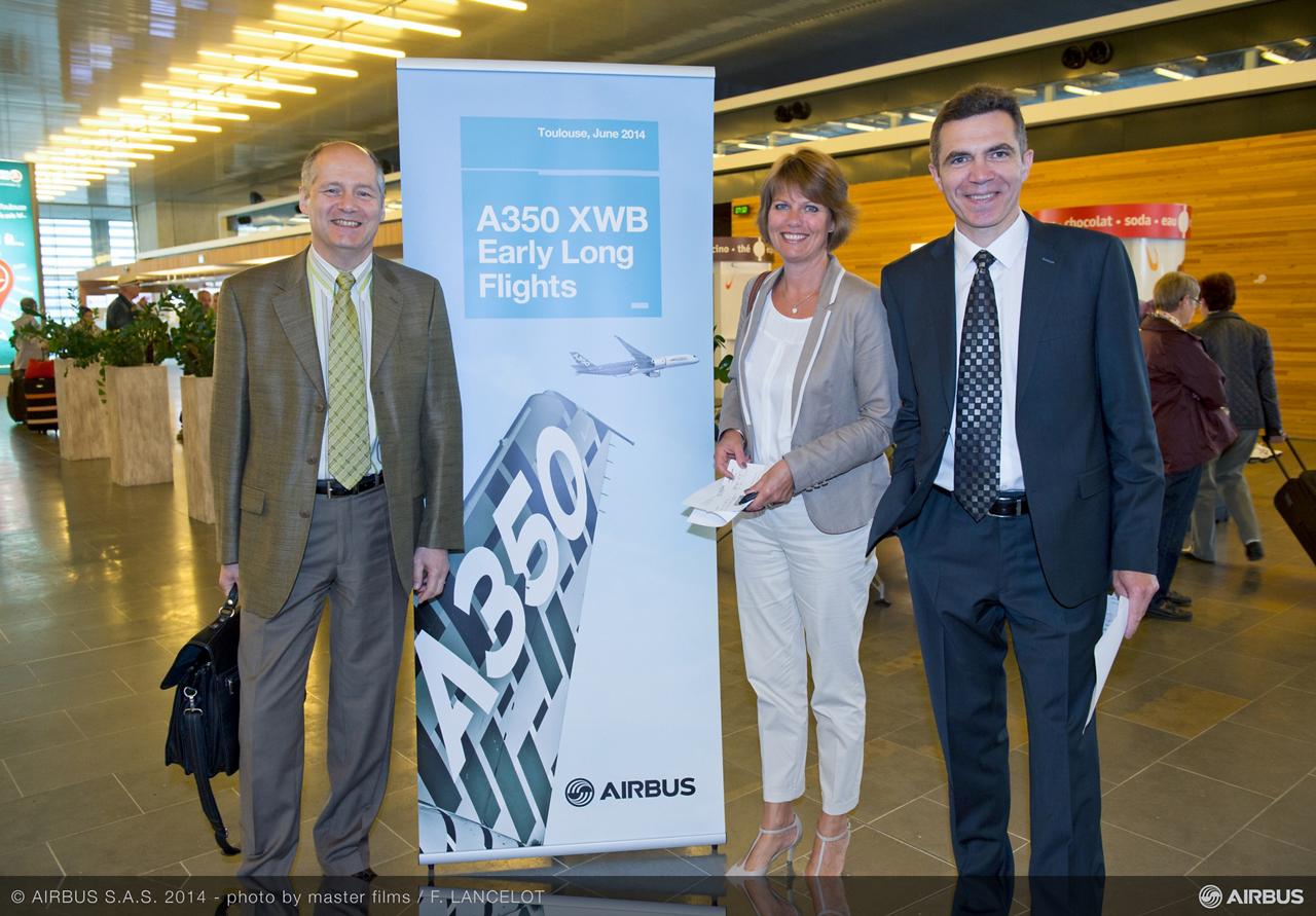 Airbus A350 XWB early long flight.