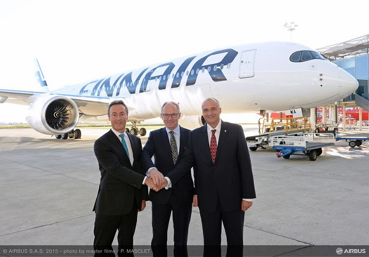 A350 XWB_Finnair first delivery_VIPs
