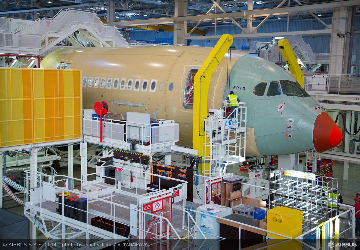 Finnair's first A350 XWB in final assembly_1