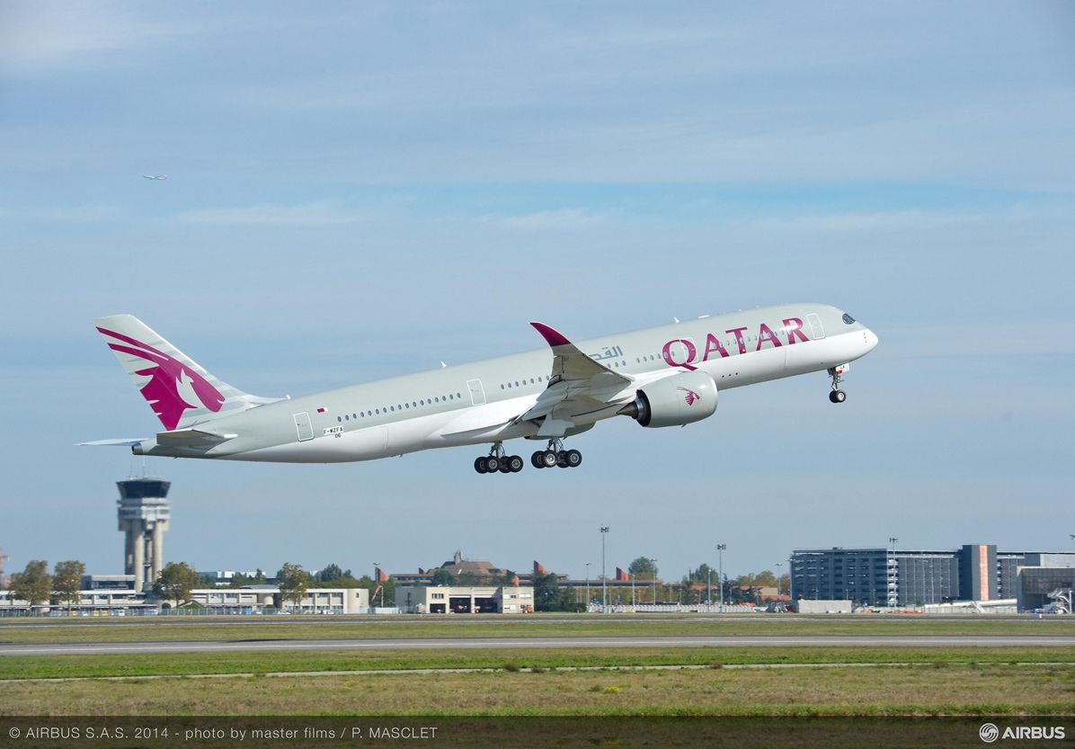 Qatar Airways' no. 1 A350 XWB first flight_5