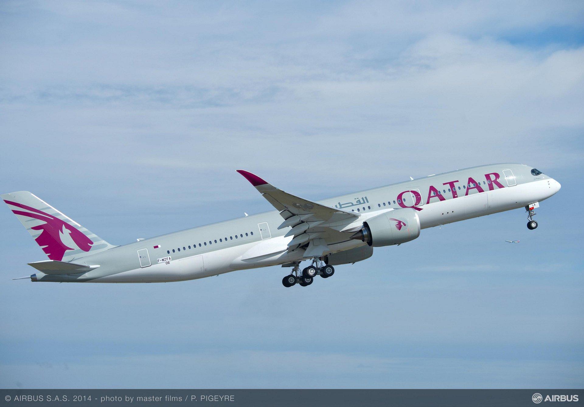 Qatar Airways' no. 1 A350 XWB first flight_4