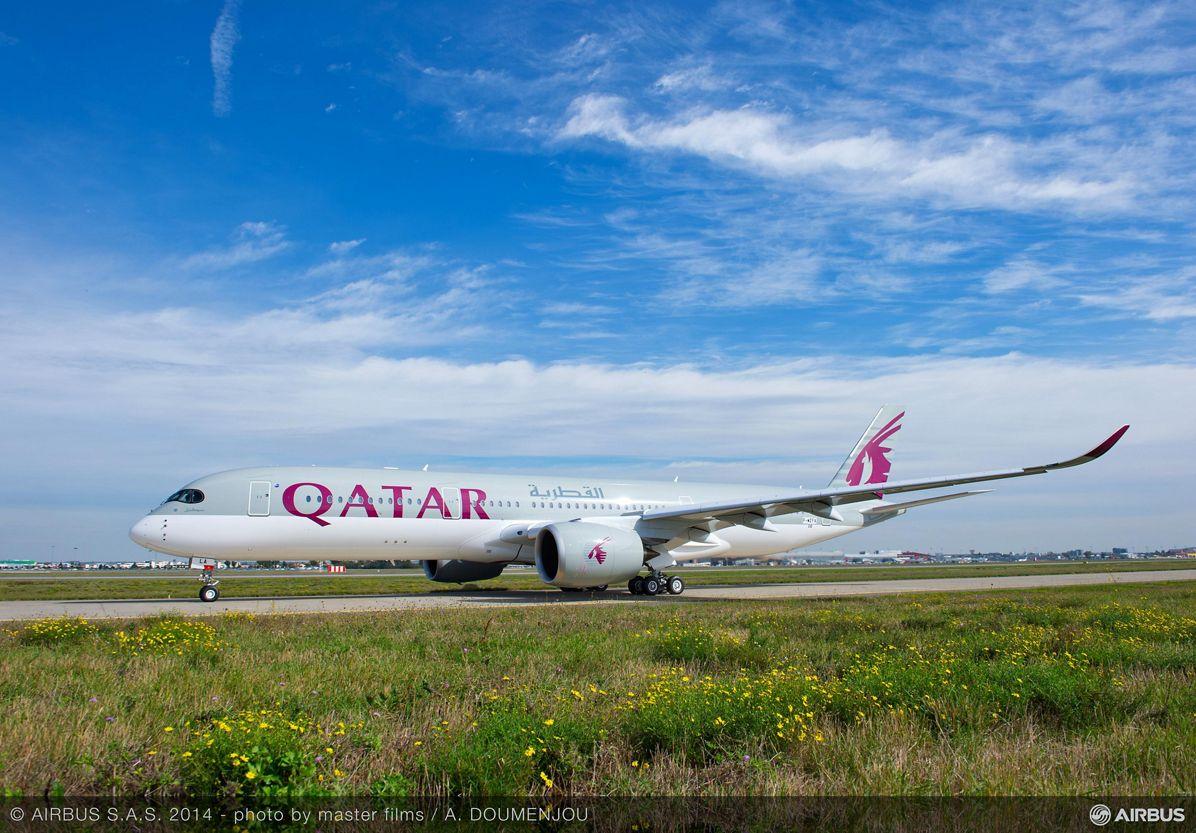 Qatar Airways' no. 1 A350 XWB first flight_2