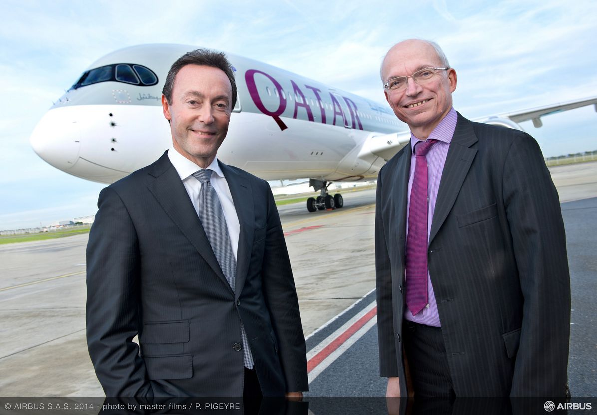 A350 XWB Qatar Airways- Fabrice BREGIER Didier EVRARD 1