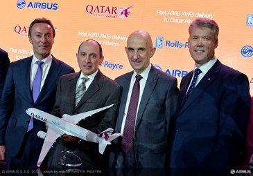 A350 XWB Qatar Airways delivery ceremony 1
