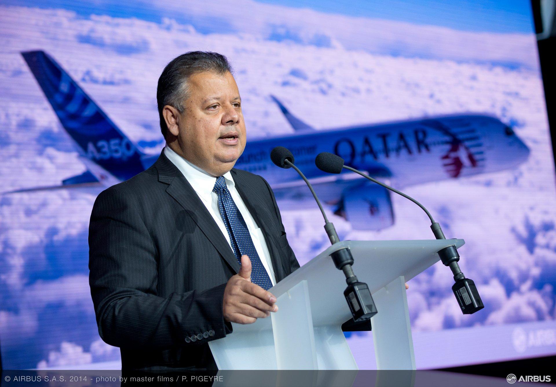 A350 XWB Qatar Airways first delivery - Kiran Rao briefing