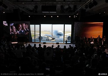 A350 XWB Qatar Airways first delivery - ceremony aircraft reveal