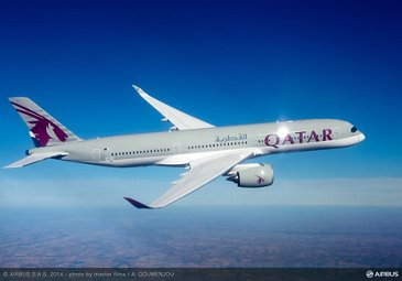 A350 XWB Qatar Airways in flight 4