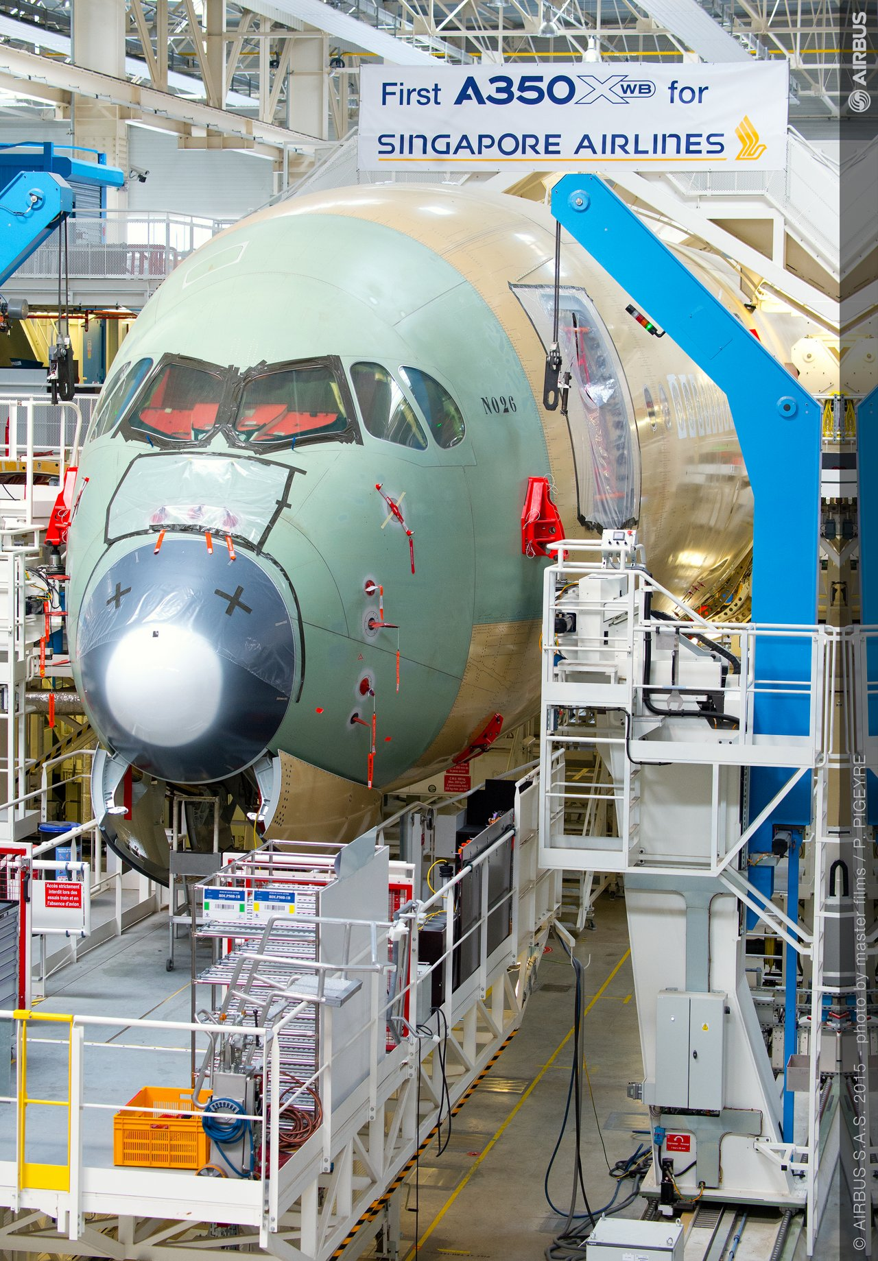 Singapore Airlines_A350 XWB assembly