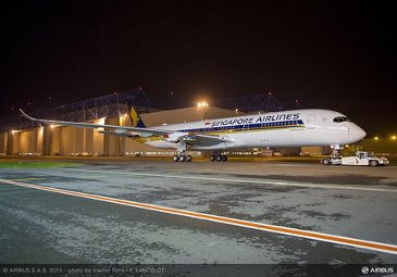 Singapore Airlines' first A350 XWB painted
