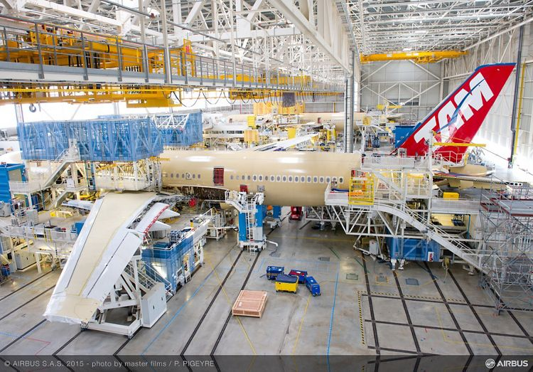 TAM Airlines' first A350 XWB in final assembly