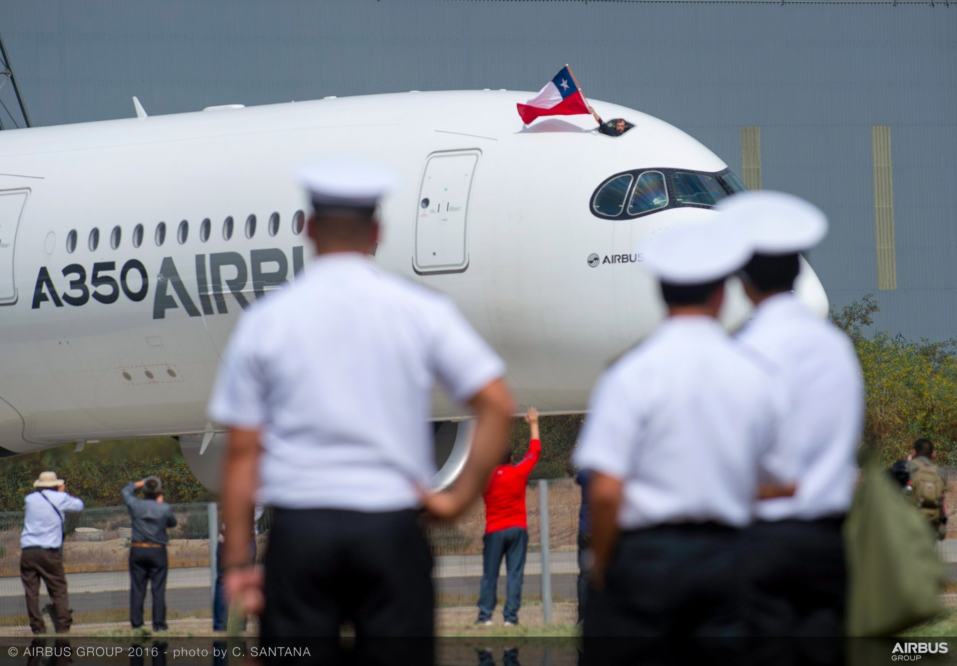 A350 XWB at FIDAE 2016_display