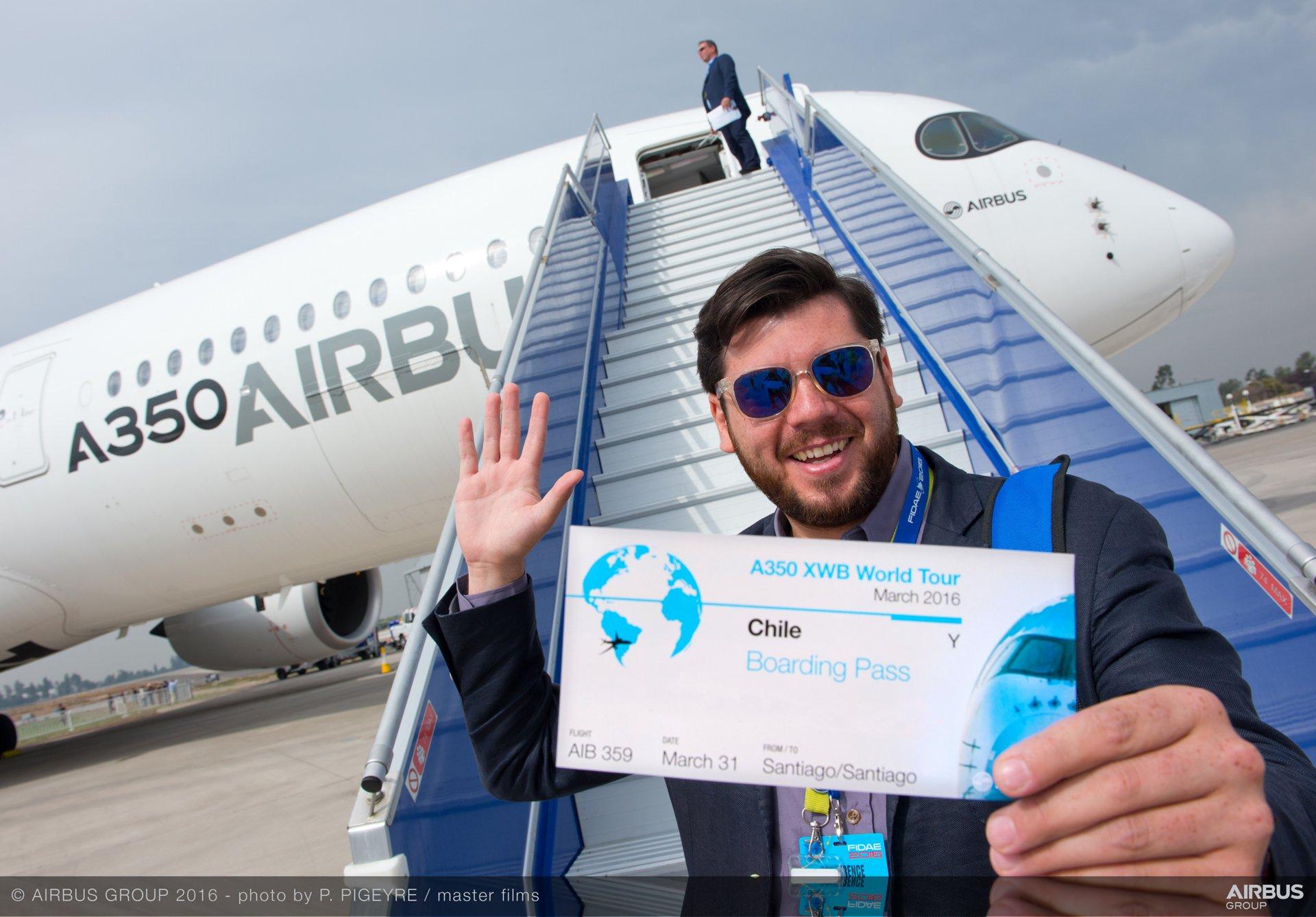A350 XWB at FIDAE 2016_world tour