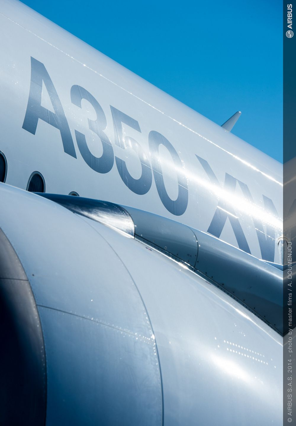 With its A350 XWB on display at the Farnborough Airshow, Airbus brings together the very latest in aerodynamics, design and advanced technologies