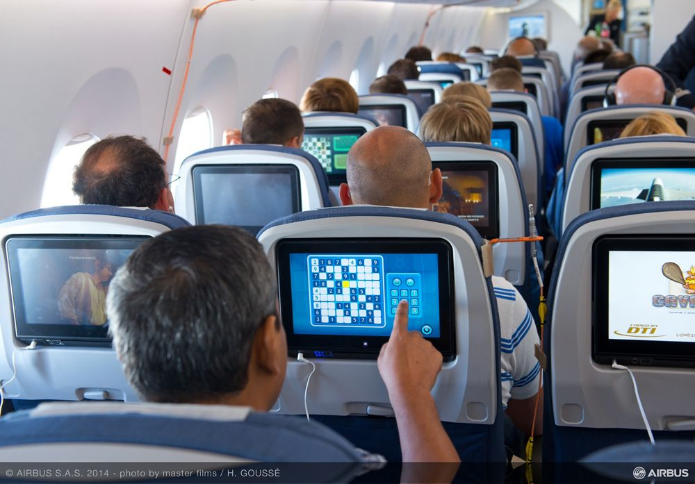 A350 XWB early long flight on board 1