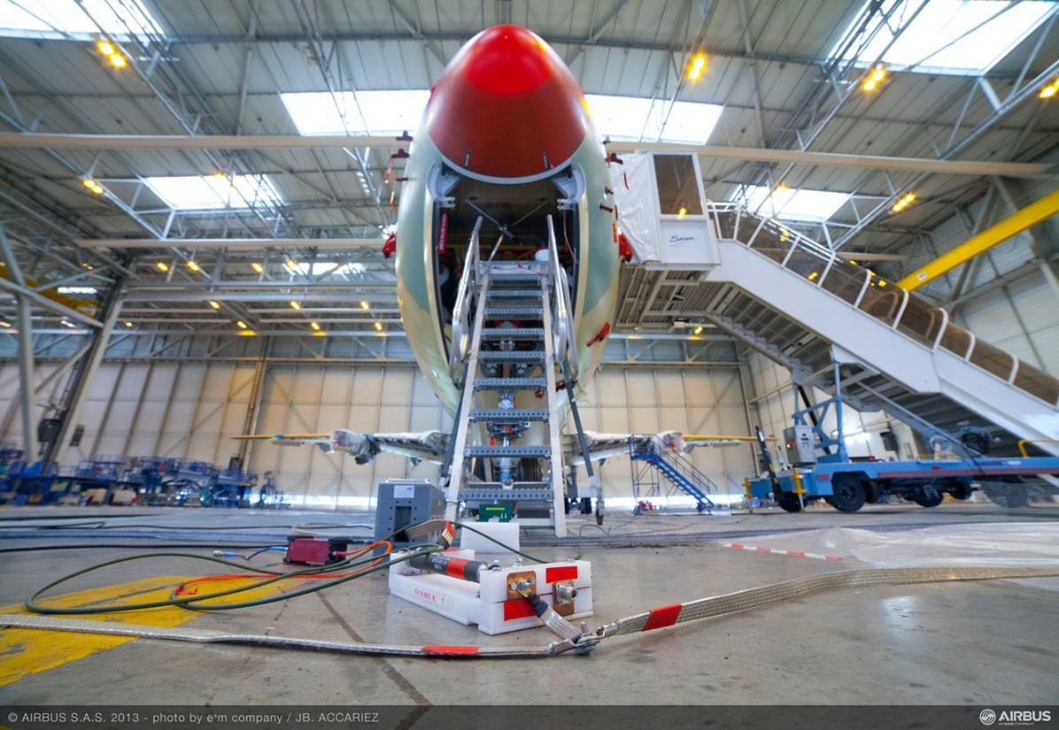 A350 XWB lightning test 2