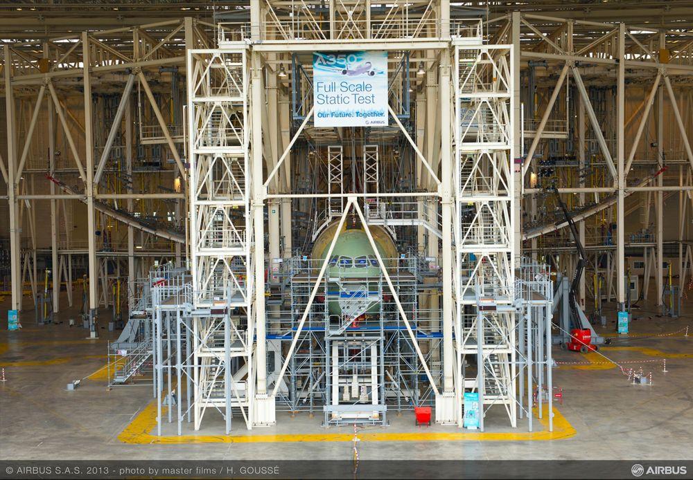 A350 XWB passes Maximum Wing Bending test