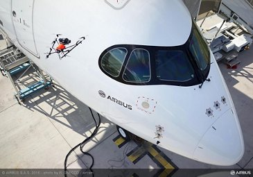 A350 XWB quality inspection by drone