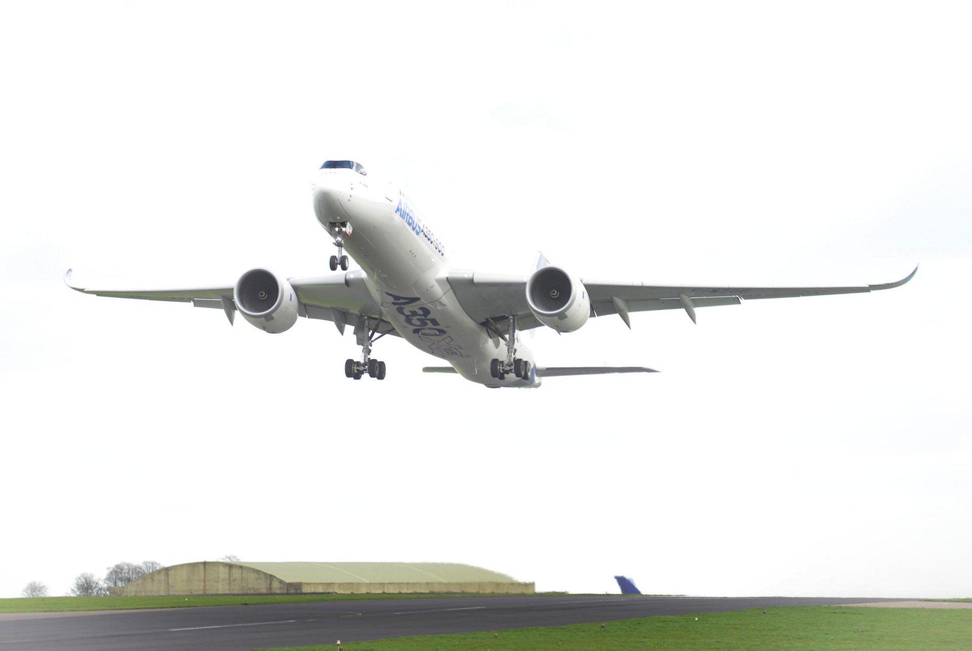 A350 XWB takes off