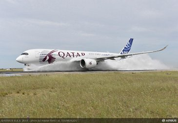 A350 XWB water ingestion test Istres 1