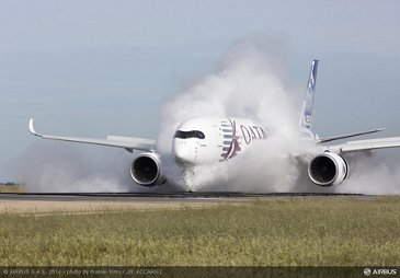 A350 XWB water ingestion test Istres 2