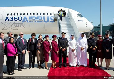 A350 XWB welcomed in Doha   2