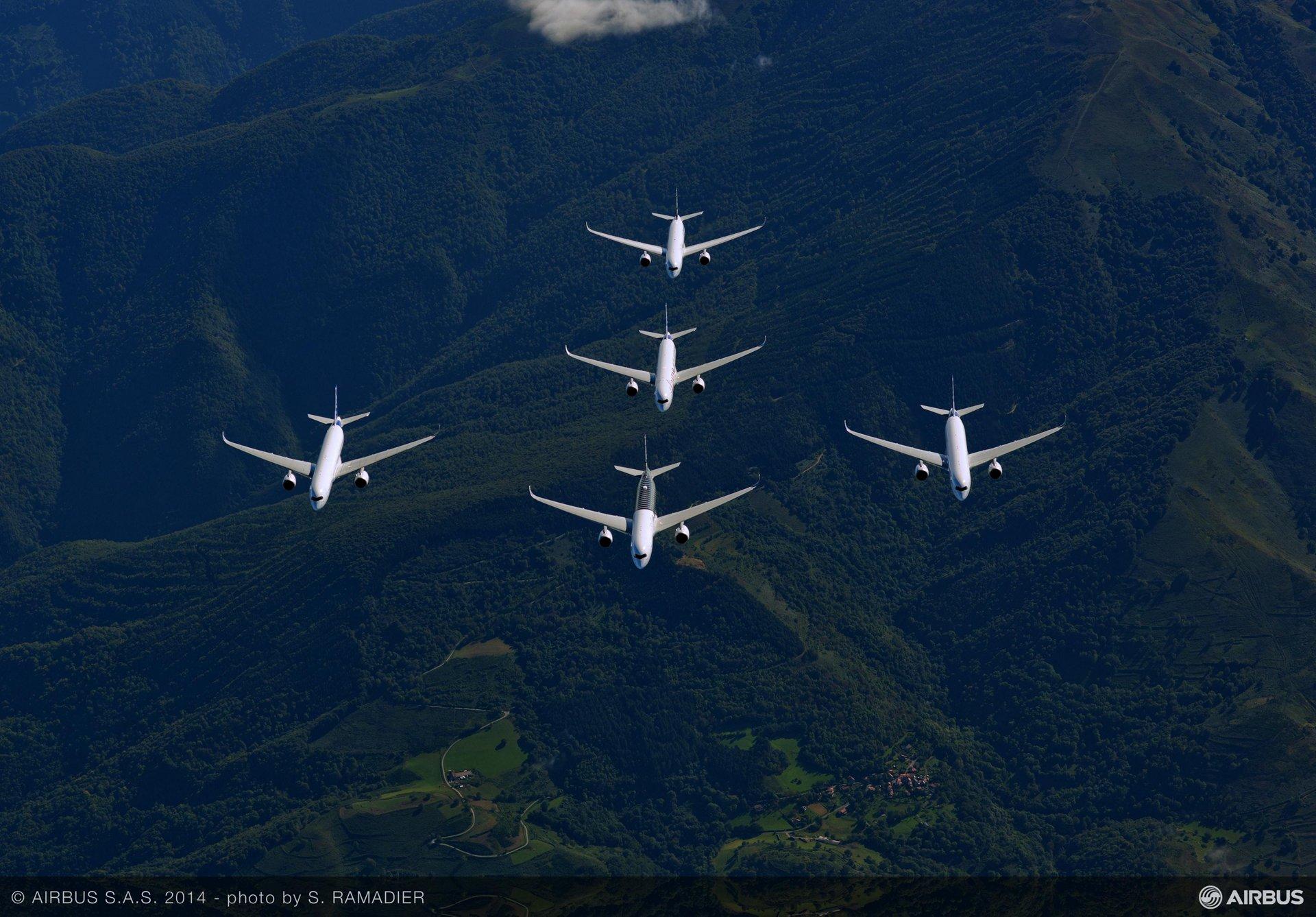 A350 XWB – Test aircraft formation flight 2