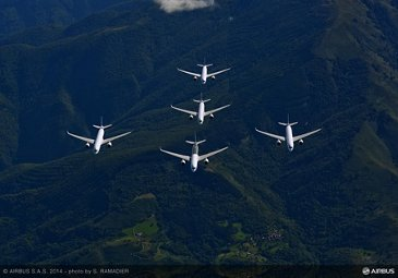 A350 XWB – Test aircraft formation flight 2